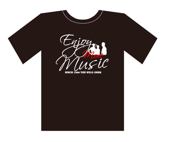 オリジナルTシャツ黒(Enjoy more  Music)