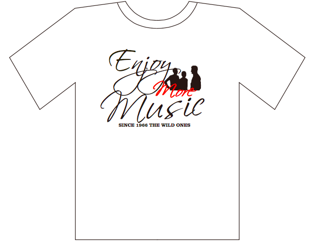 オリジナルTシャツ白(Enjoy more  Music)